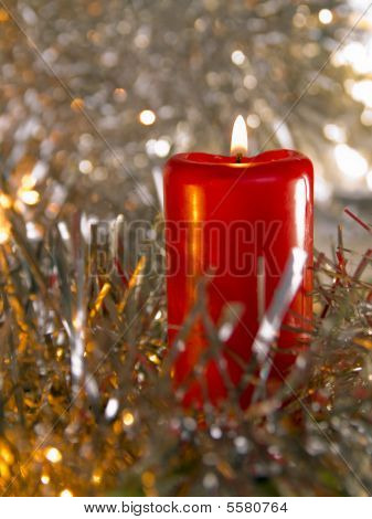 burninging candle new year's subject cristmas