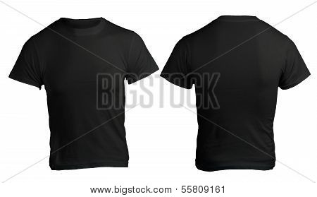 Men's Blank Black Shirt Template