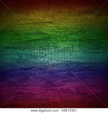 Background Rainbow Wall Wood