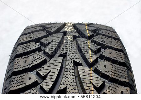 Brand new modern winter car tire