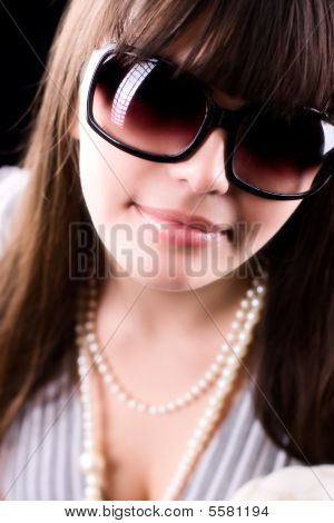 Woman In Sunglasses Glamour Portrait