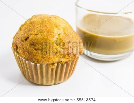 Bannana Muffins And Coffee
