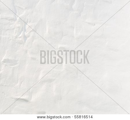 Texture On White Concrete Wall As Background