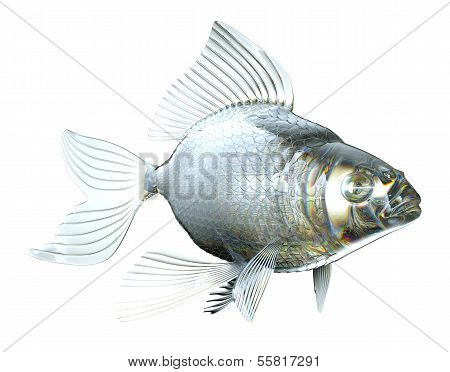 Beautiful Semitransparent Glass Fish Isolated