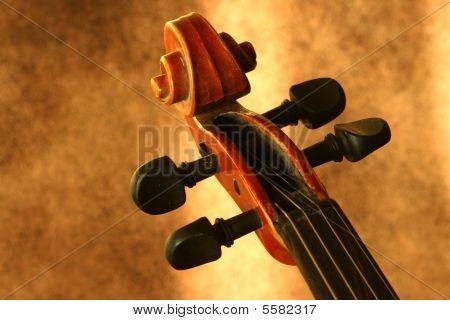 Vintage Violin Scroll