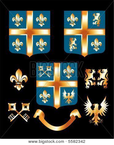Golden Heraldic Elements