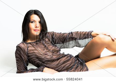 Beautiful Woman With Sexy Bare Legs