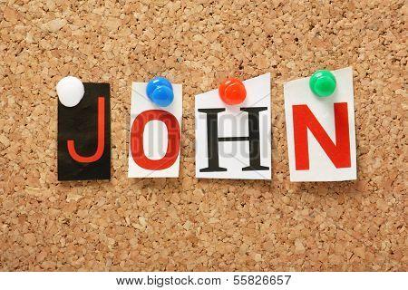 The name John