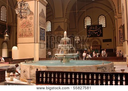 Bursa Grand Mosque Fountain In
