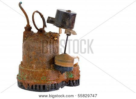 Old Grungy Rusted Sump Pump