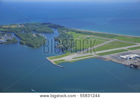 View of Billy Bishop Toronto City Airport.