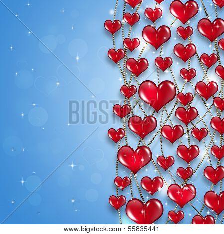 Bright Hearts Holiday Background