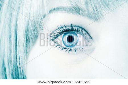 Woman Eye In Hi-tech Style