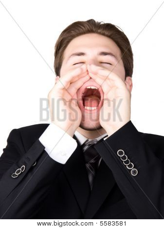 Screaming Businessman