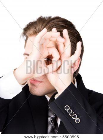 Spying Businessman