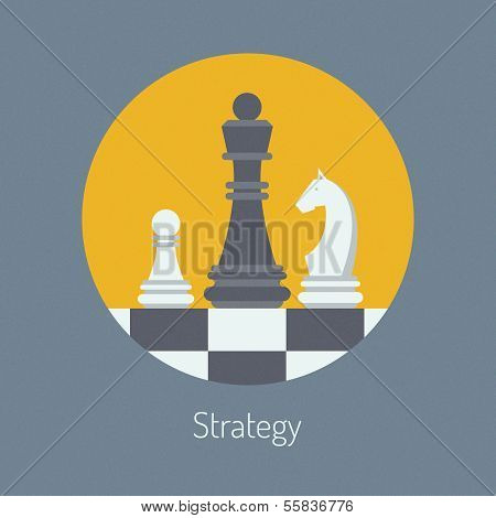 Business Strategy Flat Illustration