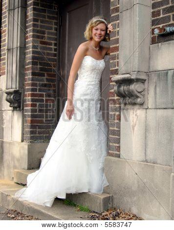 Alley Doorway And Bride