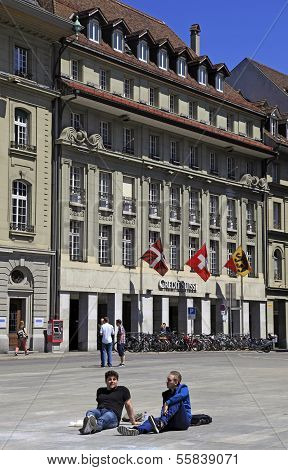 Credit Suiss Bank In Bern, Switzerland
