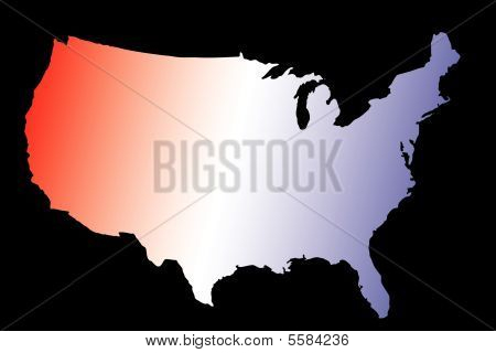 Amerika Karte rot weiß und blau