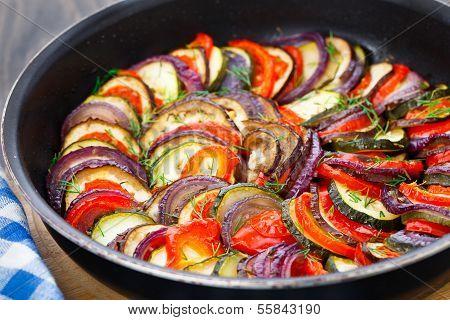 Ratatouille in a pan