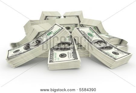 Gran suma de dinero dólares