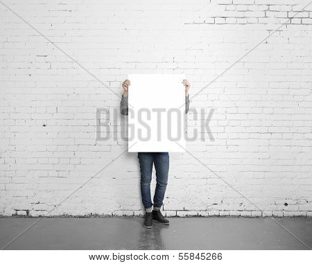 Hipster Holding Poster