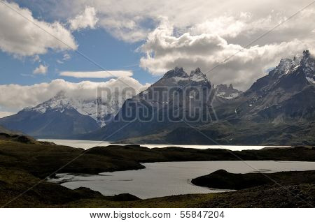 CHILE - FEBRUARY 18: A lake in Torres Del Paine National Park in the Patagonia region of Chile.