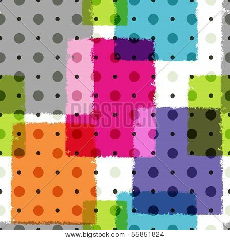 Seamless Grungy Colorful Pattern