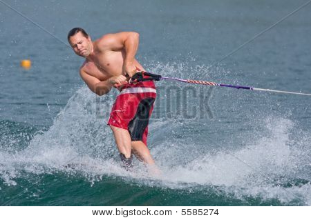 Waterskiing Trick Competition