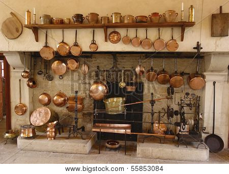 The Ancient Kitchen at Chateau de Pommard winery in France
