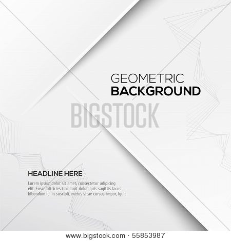 Geometric gray 3D background