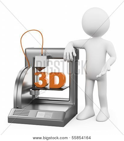 3D White People. 3D Printer Fused Deposition