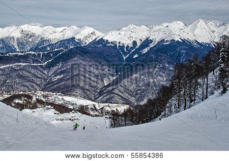 Olympic Ski Trail Rosa Khutor.