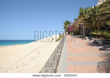 Promenade In Morro Jable. Fuerteventura, Spain