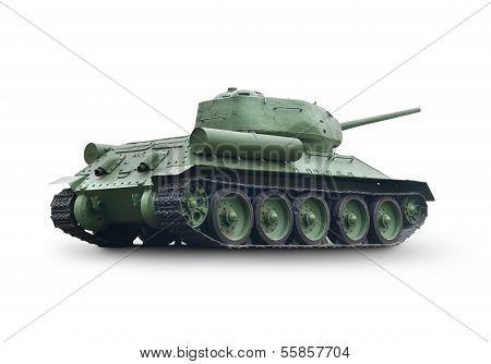 Old green tank