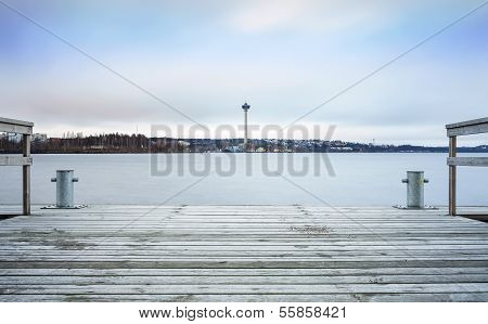 Observation Tower In Tampere, Finland