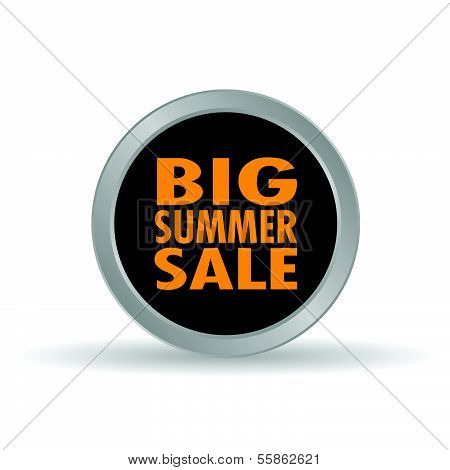 Big Summer Sale Icon Vector