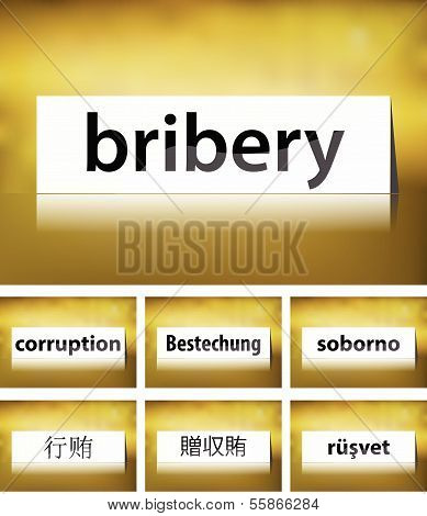 Bribery Concept on white background