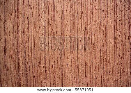 Bubinga Wood Surface - Vertical Lines