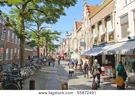 People On The Street  In Dordrecht, Netherlands