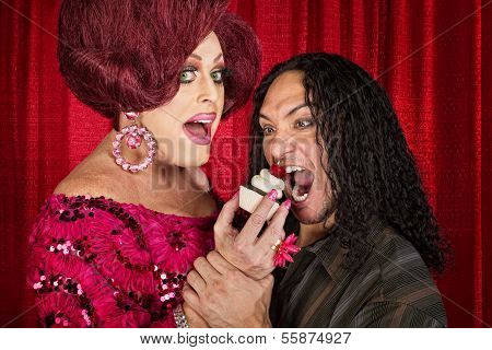 Hungry Man And Drag Queen