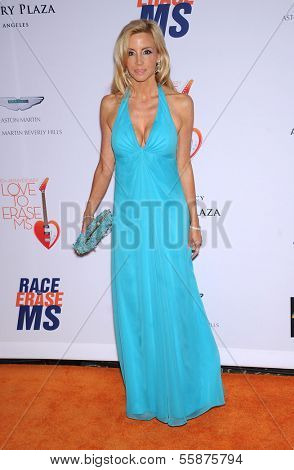 LOS ANGELES - MAY 03:  Camille Grammer arrives to the Race To Erase MS 2013  on May 03, 2013 in Century City, CA