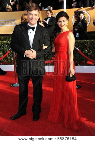LOS ANGELES - JAN 27:  Alec Baldwin & Hilaria Thomas arrives to the SAG Awards 2013  on January 27, 2013 in Los Angeles, CA
