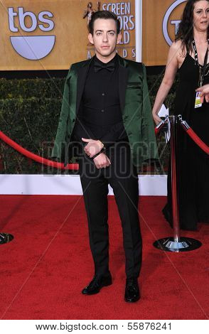 LOS ANGELES - JAN 27:  Kevin McHale arrives to the SAG Awards 2013  on January 27, 2013 in Los Angeles, CA