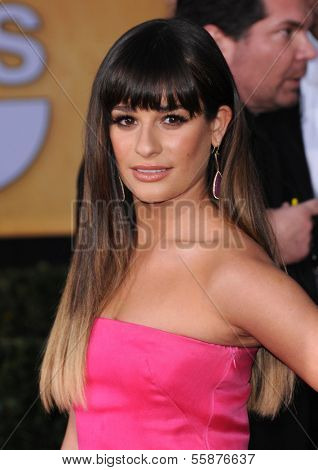 LOS ANGELES - JAN 27:  Lea Michele arrives to the SAG Awards 2013  on January 27, 2013 in Los Angeles, CA