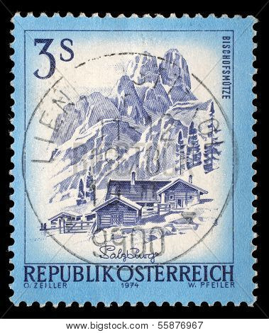 AUSTRIA - CIRCA 1974: A stamp printed in Austria shows Bishofsmutze, from the series