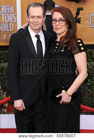 LOS ANGELES - JAN 27:  Steve Buscemi & Jo Andres arrives to the SAG Awards 2013  on January 27, 2013 in Los Angeles, CA