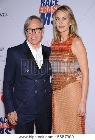 LOS ANGELES - MAY 03:  Tommy Hilfiger & Dee Ocleppo arrives to the Race To Erase MS 2013  on May 03, 2013 in Century City, CA