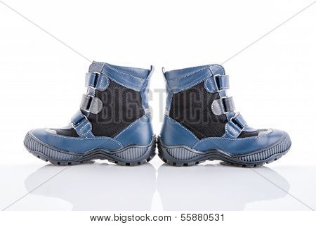 Children Winter Boot On A White Background