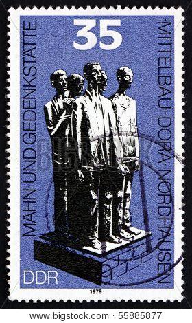 Postage Stamp Gdr 1979 Memorial Monument, Nordhausen